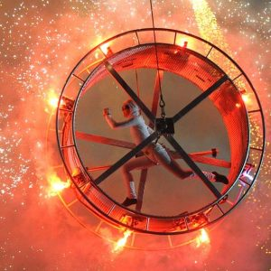 Proximate Pyro Wheel with Performer