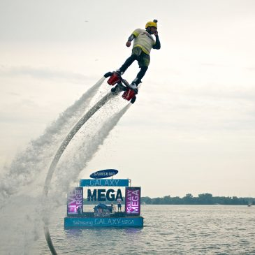 SAMSUNG MEGA WATER STUNT W/ FLYBOARD WATER JET PACK