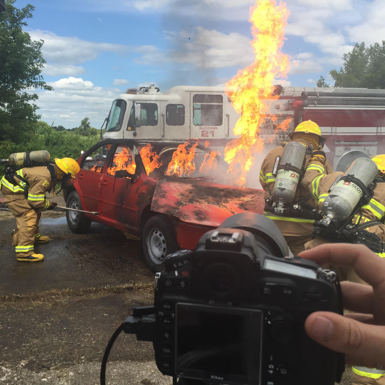 Flaming Car Photo Shoot