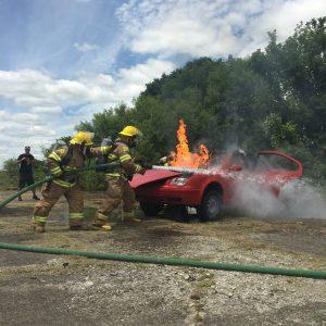 car burn stunt