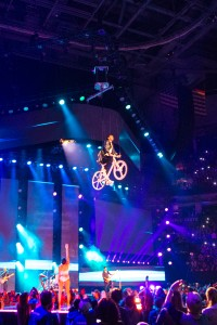 bike flying effect