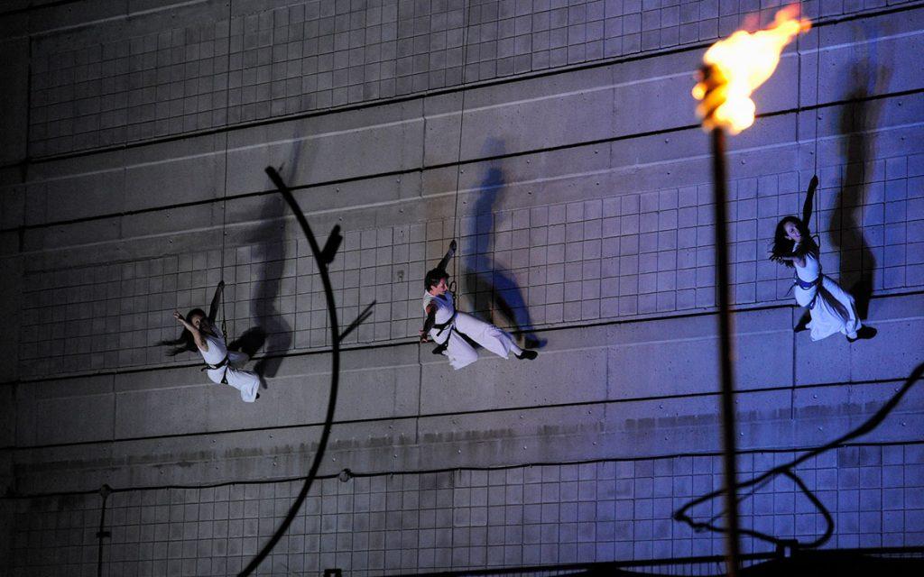 stunt winch fly gag