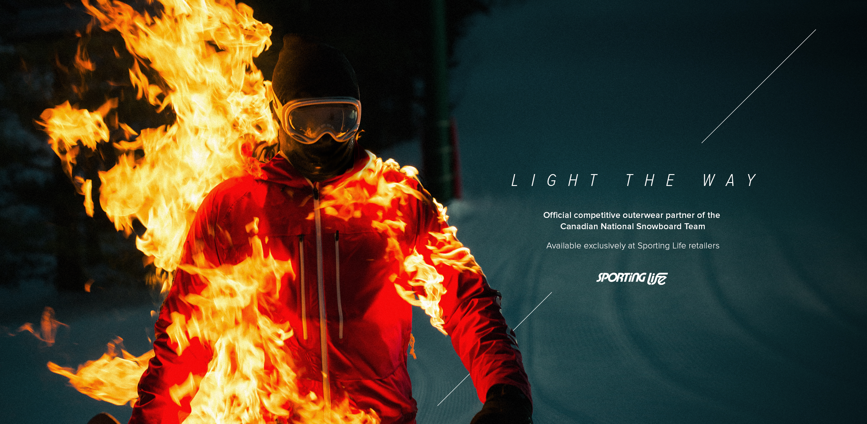 snowboarder on fire stunt