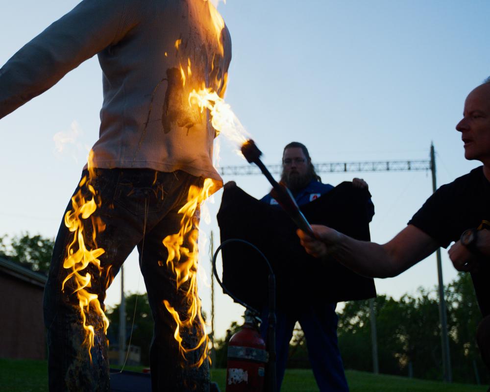 fire burn stunt