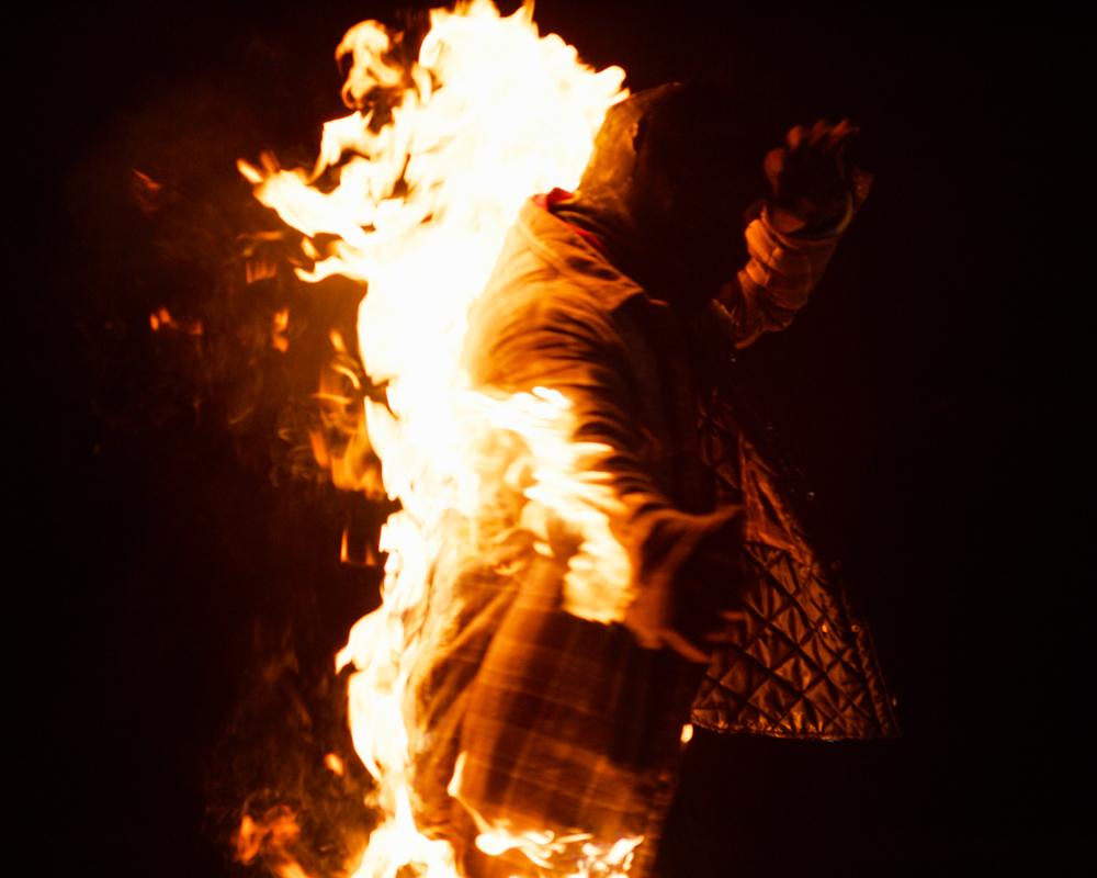 body burn stunt toronto, self immolation, human torch, burn stunt, fire stunt coordination, tom comet, dangerboy