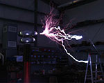 High Voltage 'Streamers' From Large Tesla Coil